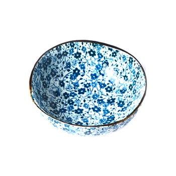 Bol din ceramică MIJ Daisy, ø11cm, alb - albastru