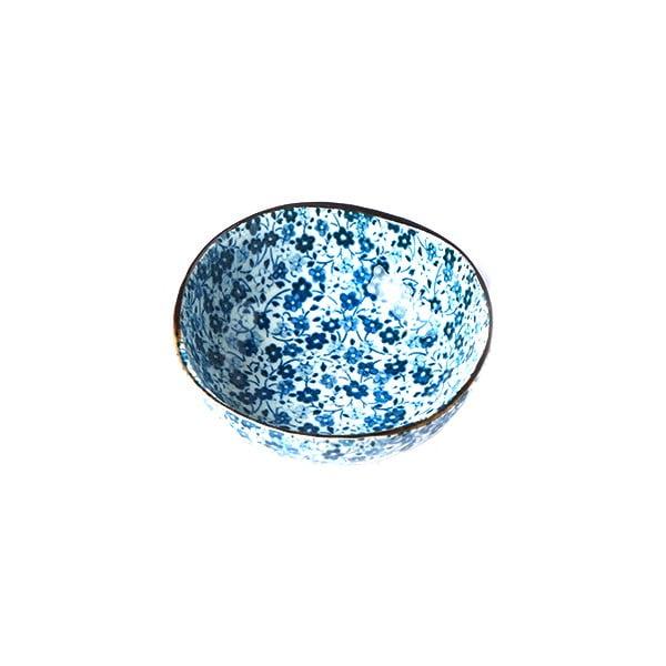 Modro-bílá keramická mistička MIJ Daisy, ø11cm