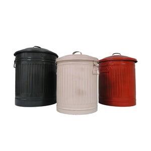 Sada 3 plechových odpadkových košů Antic Line Pubelles
