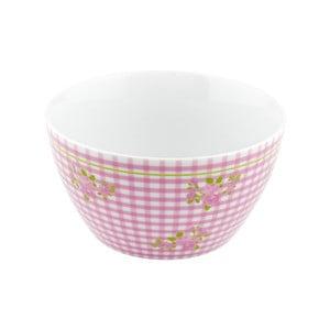 Porcelánová miska Karo, růžová 4 ks