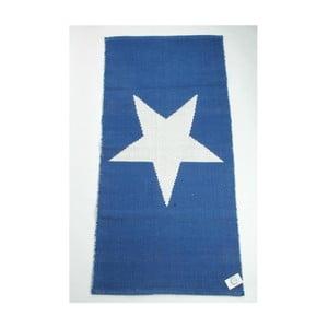 Oboustranný koberec Star 135x65 cm, modrý