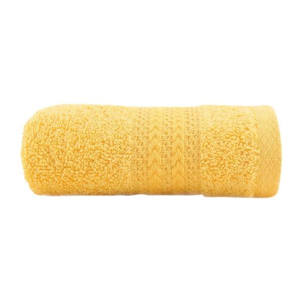 Žlutý ručník z čisté bavlny Sunny, 30 x 50 cm