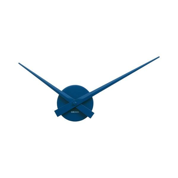 Modré nástěnné hodiny Karlsson Time Mini, ø44 cm