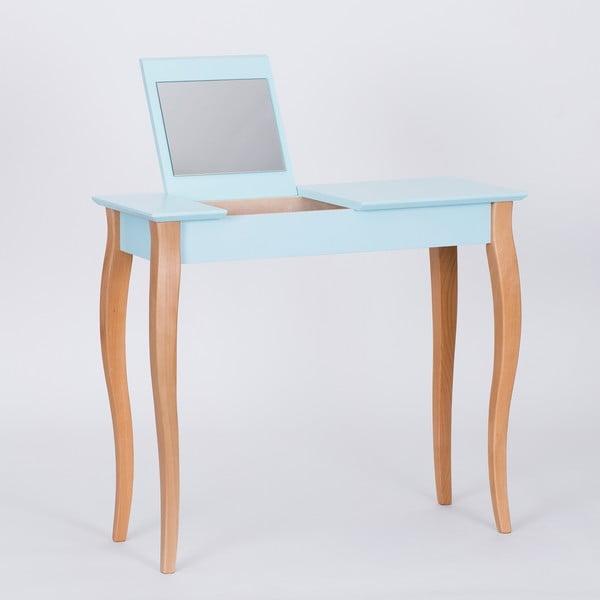 Světle tyrkysový toaletní stolek se zrcadlem Ragaba Dressing Table,délka85cm