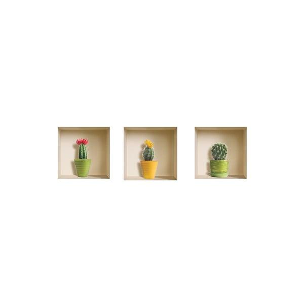 3D samolepky na zeď Nisha Cactus