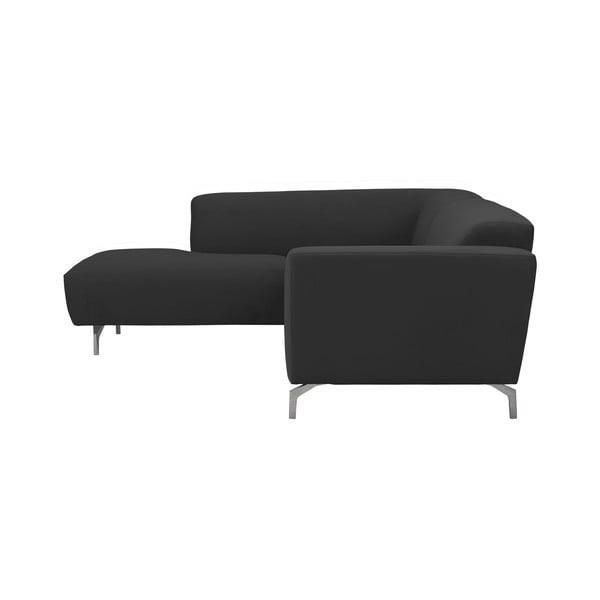 Tmavě šedá rohová pohovka Windsor & Co Sofas Orion, levý roh