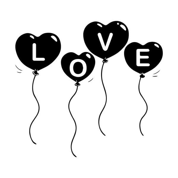 Samolepka Ambiance Baloon Love