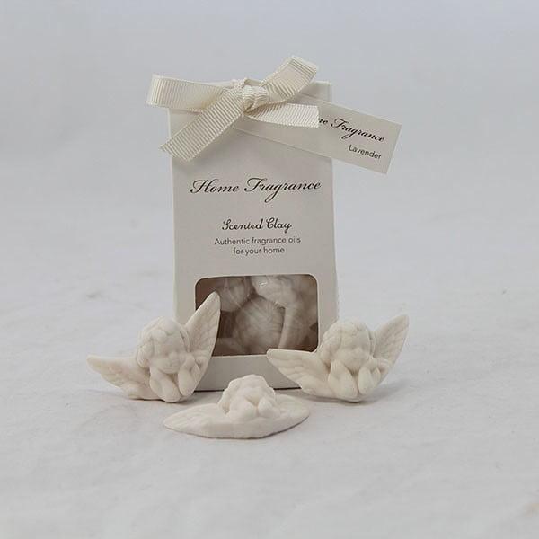 Sada 3 parfémovaných jílů andílci - levandule