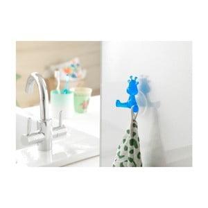 Modrý přísavný háček ve tvaru žirafy Compactor