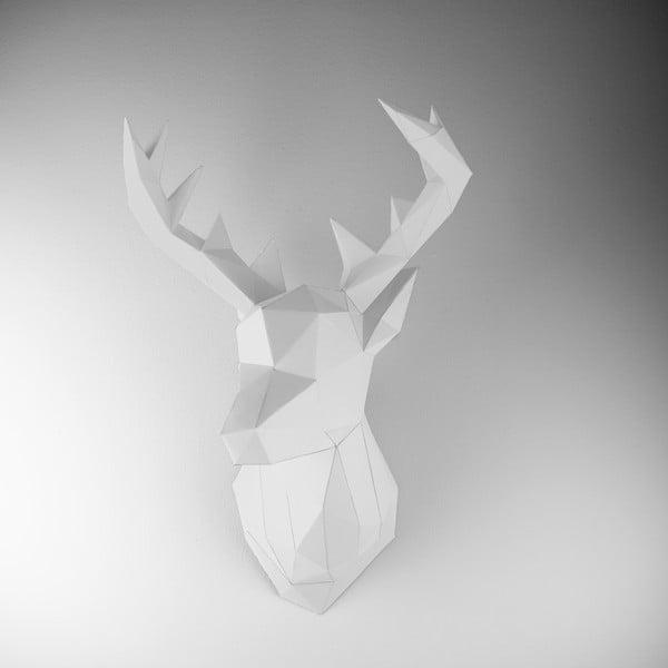 Papírová trofej Jelen, bílý