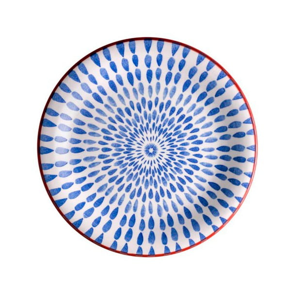 Niebieski talerz Brandani Ginger, ⌀ 19,5 cm