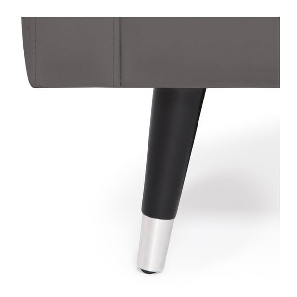 Šedá trojmístná pohovka s nohami ve stříbrné barvě Vivonita Harper Velvet