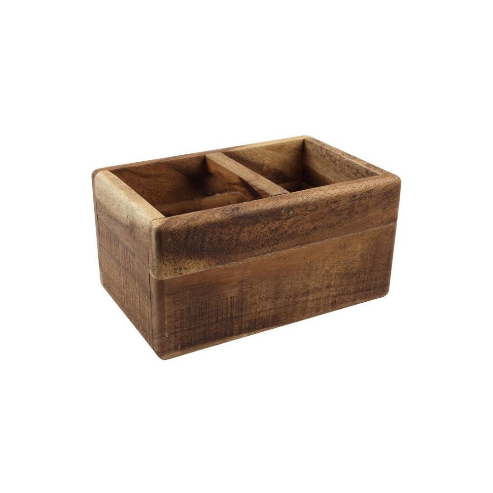 Dělený dřevěný stojan na příbory T&G Woodware Nordic Natural Trug