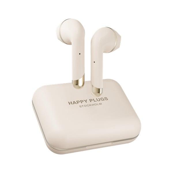 Béžová bezdrátová sluchátka Happy Plugs Air 1 Plus