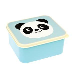 Modrý svačinový box Rex London Miko The Panda