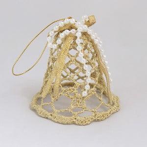 Závěsná dekorace zlatý zvonek