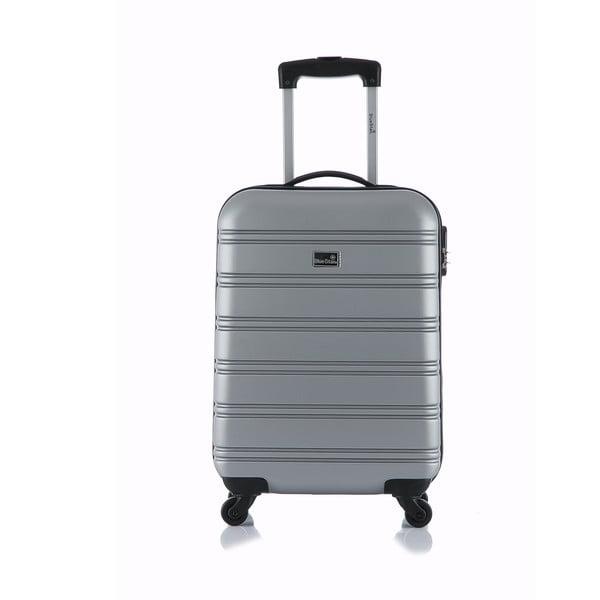 Šedý příruční kufr na kolečkách BluestarBilbao, 35l