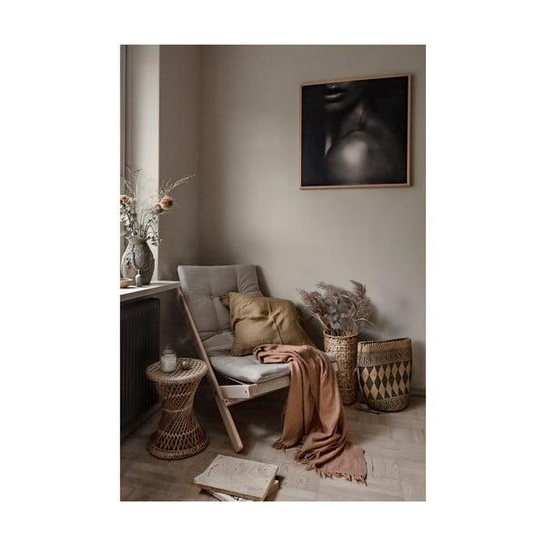 Skládací křeslo Karup Design Vigilius Boogie White/Linen Beige