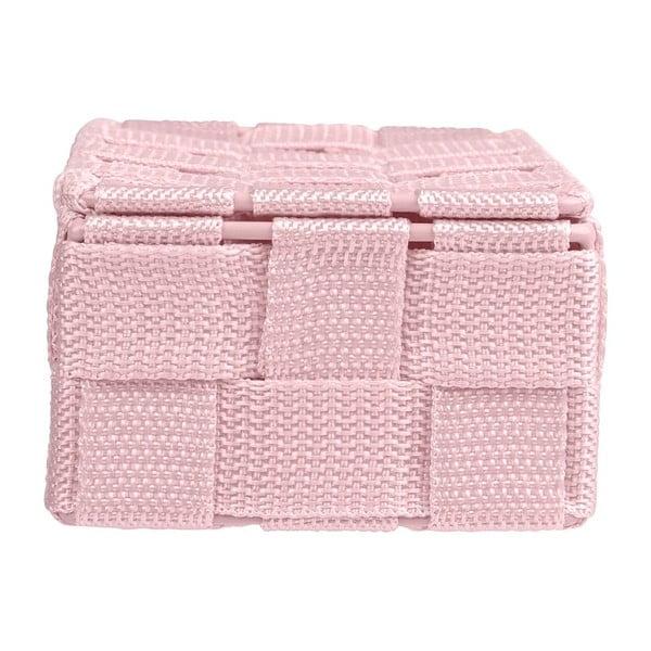 Růžový koupelnový organizér Wenko Adria Mini With Lid