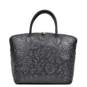 Černá kožená kabelka Anna Luchini Floreada