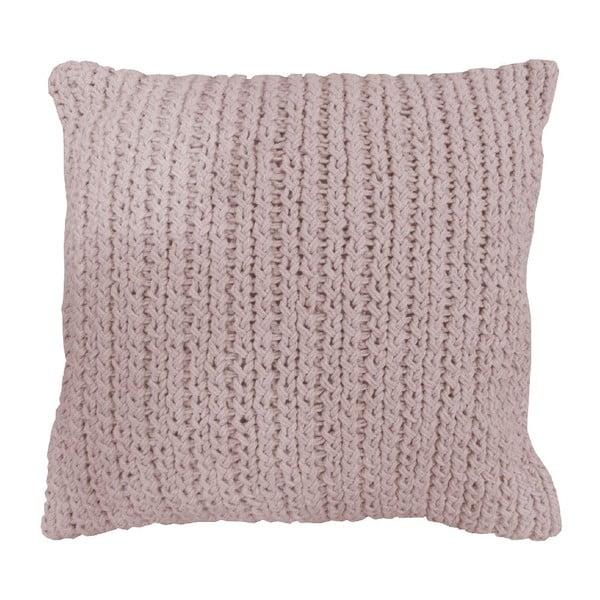 Pletený polštář Overseas Vertigo Blush, 45 x 45 cm