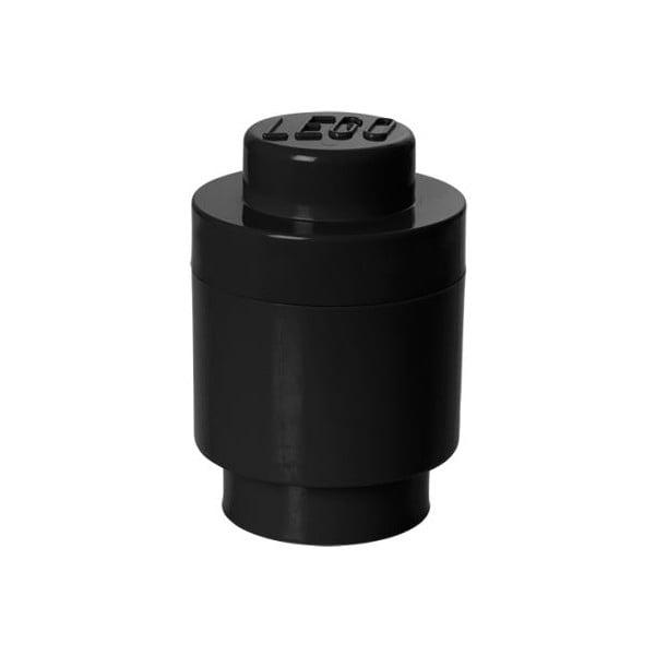 Čierny úložný okrúhly box LEGO®