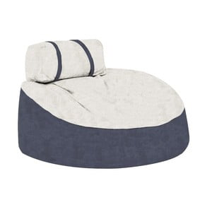 Modrý sedací puf s krémovým vrškem Poufomania Cookie