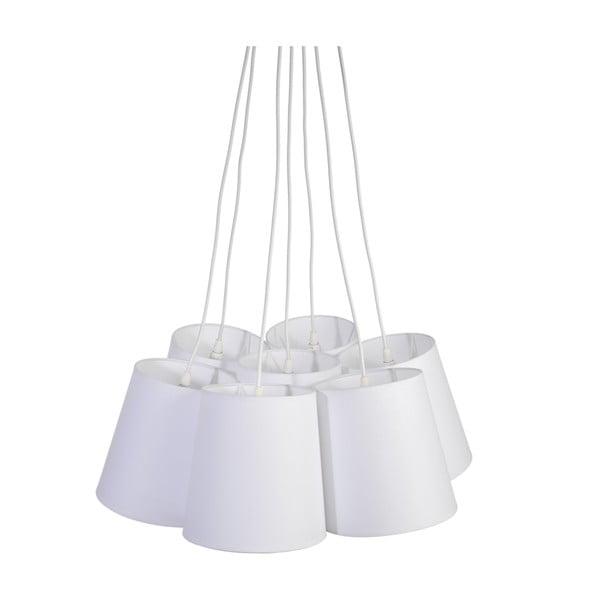 Stropní lustr Seven Cotton, bílý