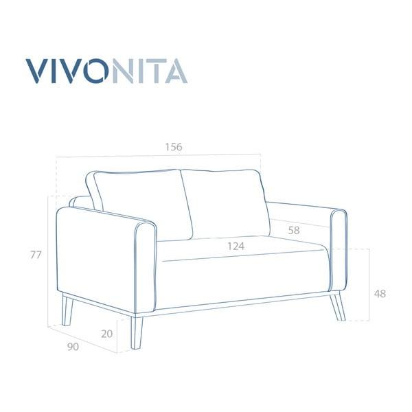 Světle hnědá dvoumístná pohovka Vivonita Milton