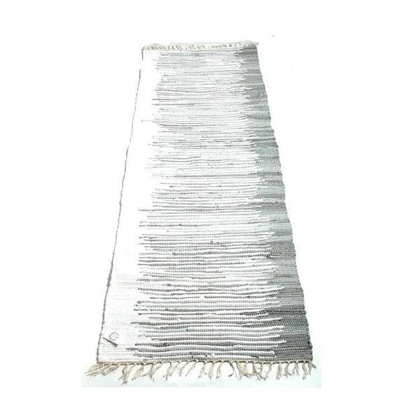 Koberec Melir 70x200 cm, černobílý