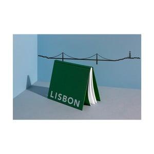 Černá nástěnná dekorace se siluetou města The Line Lisbon XL