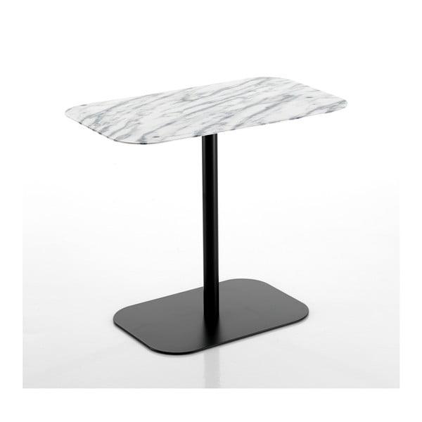 Černý konferenčný stolík s mramorovou deskou Tomasucci Imperial