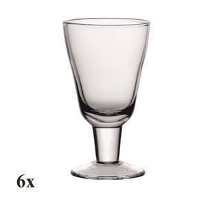 Set šesti sklenic na víno Nadia, 200 ml