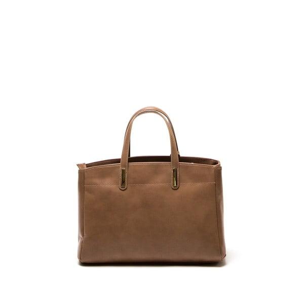 Hnědá kožená kabelka Francesca
