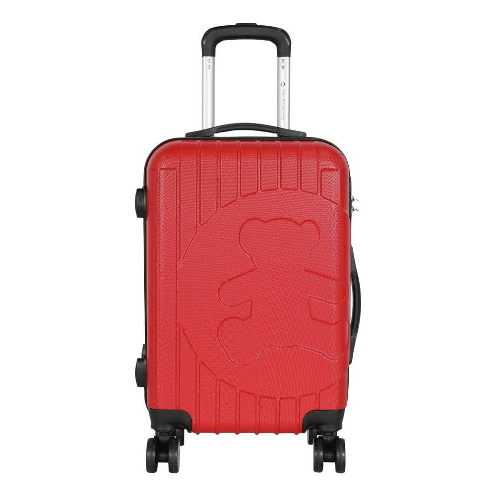 Červený příruční kufr LULU CASTAGNETTE Philip, 44l