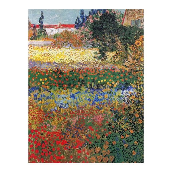 Reproducere pe pânză după Vincent van Gogh - Flower garden, 40 x 30 cm
