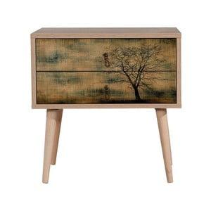 Dřevěný noční stolek Iris Tree