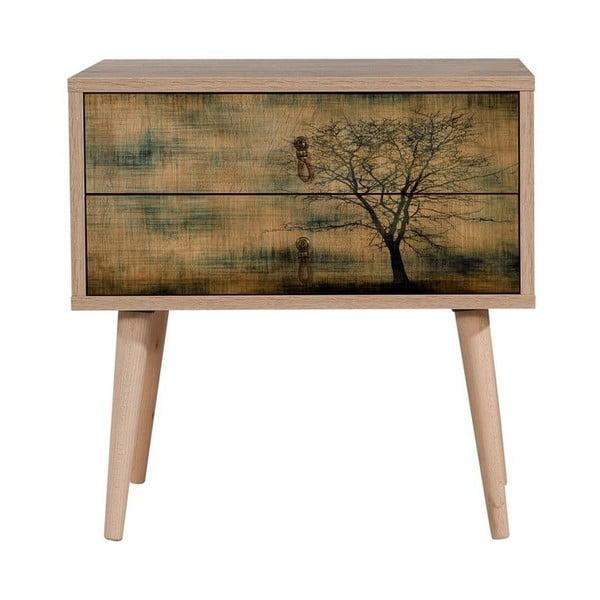 Drevený nočný stolík Iris Tree