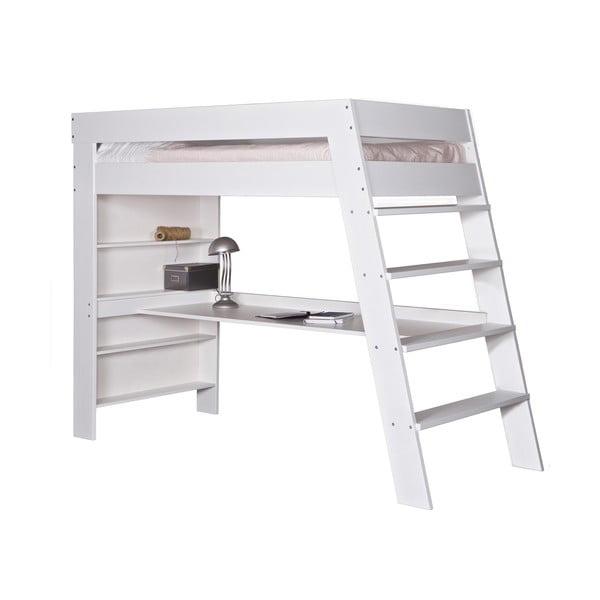 Patrová postel s pracovním stolem Julien, bílá