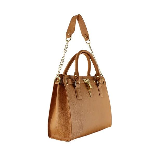 Kožená kabelka Sari, hnědá