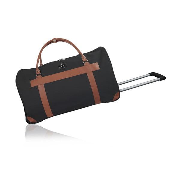 Čierna cestovná taška na kolieskach GENTLEMAN FARMER Oslo, 63 l
