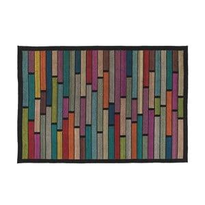 Vlněný koberec Rubina Black, 140x200 cm