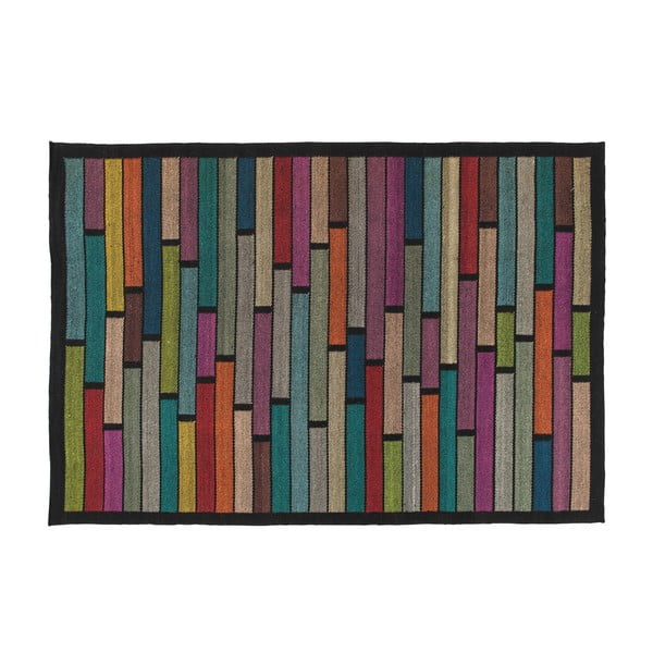 Vlněný koberec Rubina Black, 170x240 cm