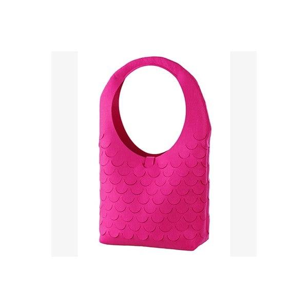 Plstěná kabelka, lila