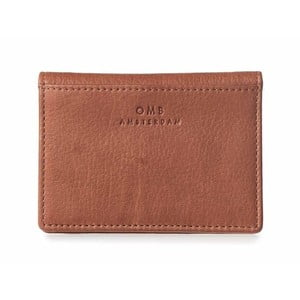 Hnědé kožené pouzdro na karty a vizitky O My Bag Suki