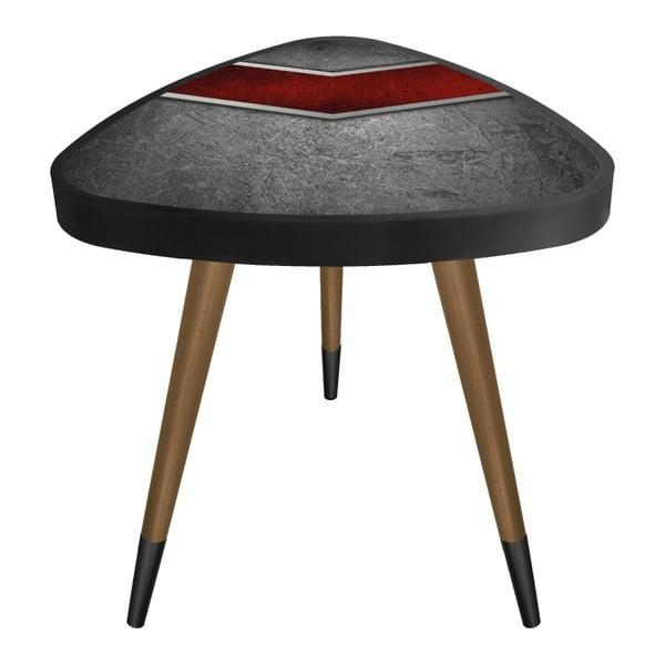 Príručný stolík Maresso Red Metal Triangle, 45 × 45 cm