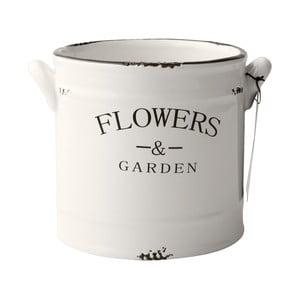 Keramický květináč Flowers, 16 cm