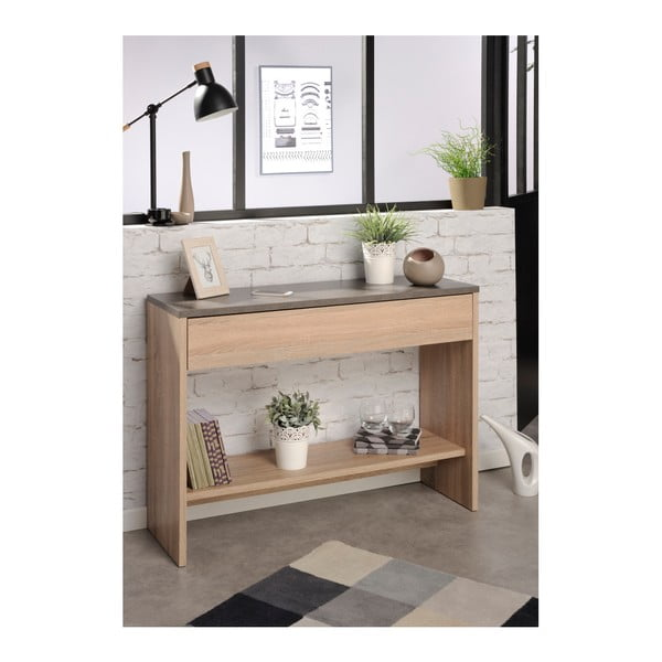 Konzolový stolek v dekoru dubového dřeva Parisot Bruay
