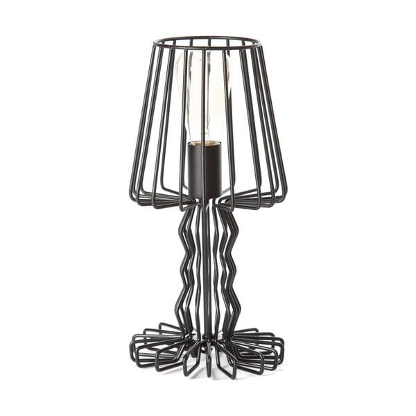 Černá stolní lampa ETH Wire Mena