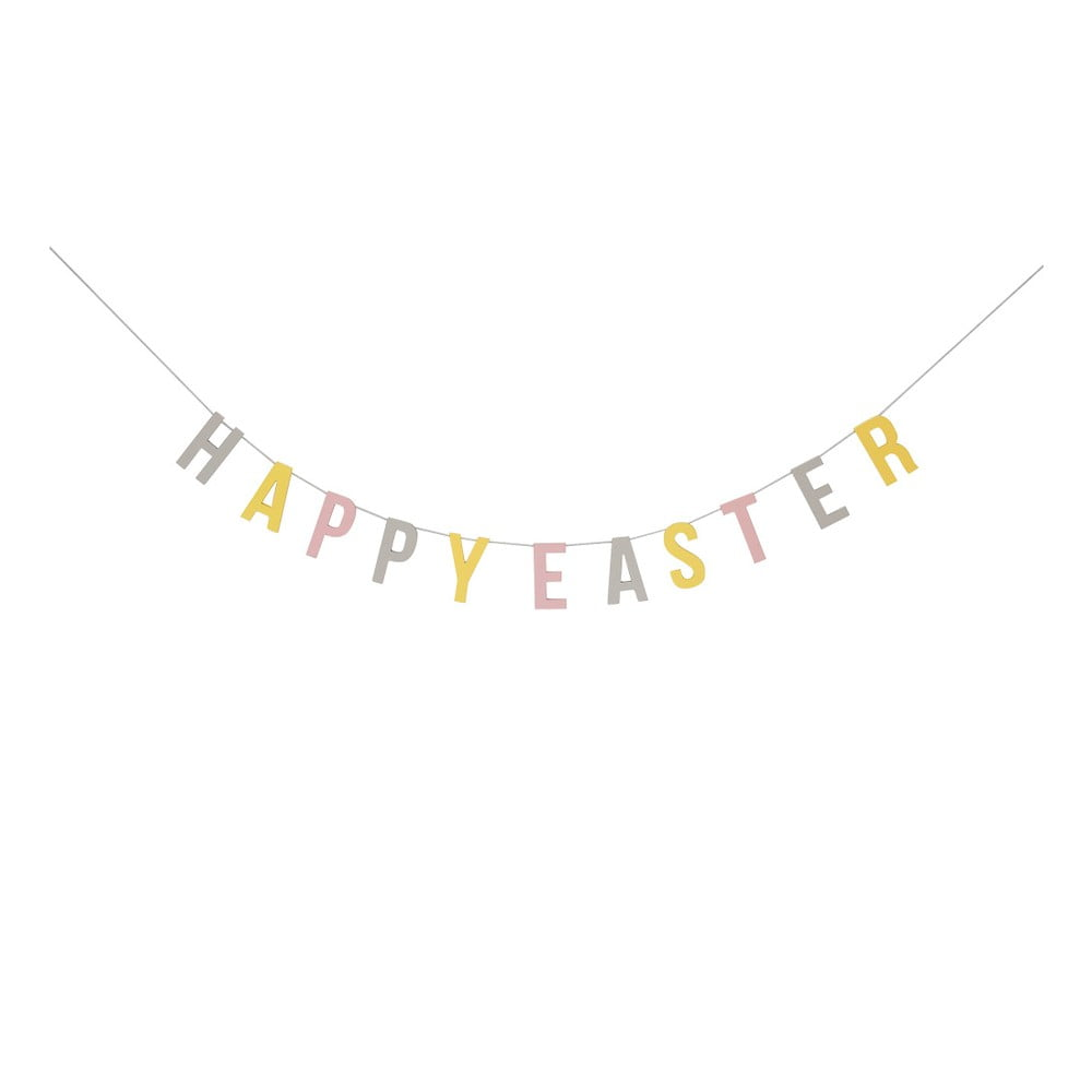 Papírová girlanda Bloomingville Pastel Easter, délka 200 cm